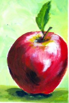 Painting an Apple involves learning shading, color mixing; skill novice painters can master with practice.  #gingercook #art