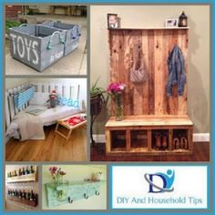 DIY And Household Tips: 15 Interior Design Ideas Made From Wood Pallets