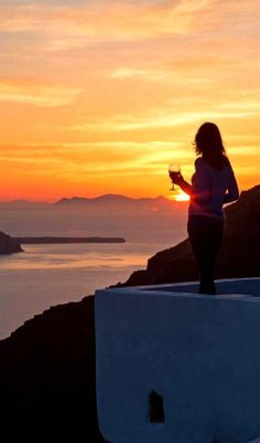 Enjoying the unique sunsets of Greece ....
