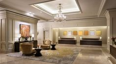The reimagined lobby features a combination of stylish sophistication and classic elegance, with a mesmerizing combination of rich textiles and bold art work