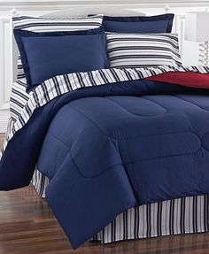 Navy Yard 8 Piece Reversible Bedding Ensembles