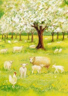 Lammetjes in de boomgaard - Marjan van Zeyl - Kaart
