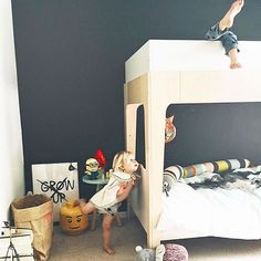 Instagram photo by @oeufnyc Oeufnyc Oeuf Perch Bunk Be Toddler Bed modern design furniture kids baby children