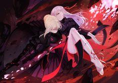 Fate/Stay Night - Saber Alter and Dark Sakura Zero Wallpaper, Wallpaper Backgrounds, Wallpapers, Fate Zero, Fantasy Characters, Anime Characters, Fate Stay Night Sakura, Saber Lily, Saber Fate