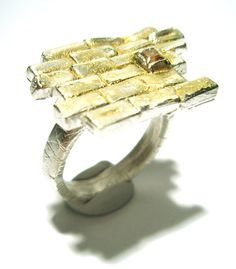 Yellow Brick Road Fine Silver with 22kt Gold and by saxdsign, $210.00 I love this!