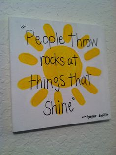 Taylor Swift Canvas... People Throw rocks at things that shine