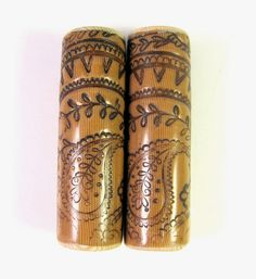 Faux Bone Paisley Polymer Clay Cylinder Focal Beads (1) by DivaDesigns1, via Flickr #Polymer #Clay #Tutorials
