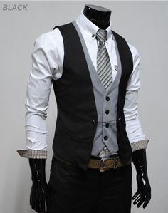 I dont care what they say about the Vest-Only Douchebag Rule. This look is amazing. walkwalkfashionbaby