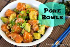 Homemade Hawaiian Poke Bowls
