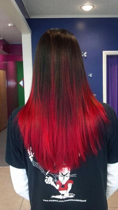 Red ombre Hair Candy Portland Indiana