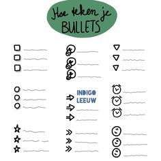 Dagelijks tekenen in je werk door te varieren met bullets. Leer nog drie manieren om dagelijks te oefenen met zakelijk tekenen terwijl je collega's niets in de gaten hebben. Math Equations, Words, Indigo, Indigo Dye, Horse