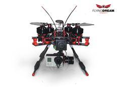 Flyingdream Drone (UAV) - Espace 680 - foldable frame - Quadricopter with 3DRobotics Pixhawk