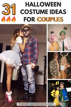 Need some college Halloween costume ideas couples this year?? Here's 31 trendy couples costumes to choose from! You will definitely love these couple Halloween costumes for you and bae! #Halloween #CouplesCostumes #Couples College Halloween Costumes Guys, Unique Couple Halloween Costumes, Popular Halloween Costumes, Halloween Diy, Halloween Nails, Halloween Office, Halloween Makeup, Halloween Recipe, Women Halloween