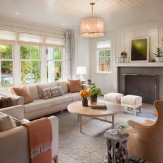 Farmhouse Living Room By Modern Organic Interiors Like Layout
