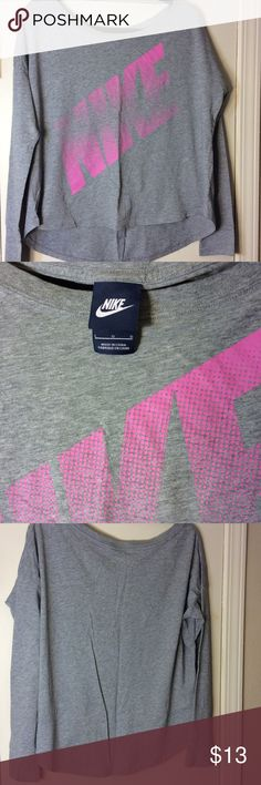 Nike Workout Shirt Great extra length in the back for some coverage. Great used condition. Nike Tops