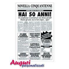 ... auguri giornale compleanno 50 anni amica quotidiano regalo umoristico