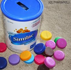 holymamamoly | WorkitWednesday | DIY Toddler Milk Lid Collector