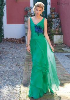Vestidos de fiesta de color verde para las invitadas