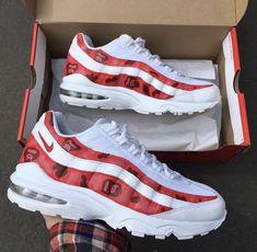 ... aliexpress womens nike air max 95 custom pink red yellow trainer shoe  mania pinterest air max 14d55edff