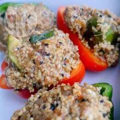 Zdjęcie do przepisu: Papryka faszerowana kaszą jaglaną z warzywami
