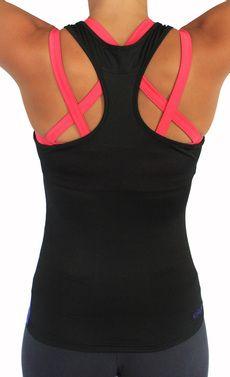 Looks great over criss-cross bra for running.