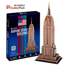 New York The Empire State Building Cubicfun 3D Puzzle DIY Toy Construction paper Handmade jigsaw Puzzles For Kids Education #Affiliate