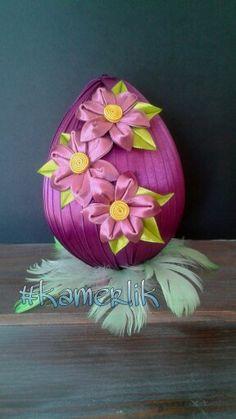 #kanzashi #kamerlik #easter #egg www.facebook.com/wislakamerlik