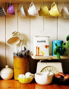 under cabinet coffee mugs :)