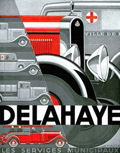 """""""Delahaye ~ Vintage Automobile Advertisement"""" by Johnny Bismark, Tropical Oasis // Imagekind.com – Buy stunning, museum-quality fine art prints, framed prints, and canvas prints directly from independent working artists and photographers."""