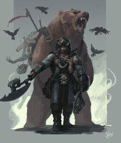 ArtStation - D&D Barbarian, Fitz, GG Nebot