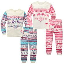 Kids Baby Girls Boys Christmas Tracksuit Children Long Sleeve Xmas Sleepwear Nightwear Pajamas Outfits Clothes(China (Mainland))