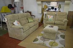 G Plan Malvern 3 Piece Fabric Suite 3 Seater + 2 Recliner + Storage Footstool
