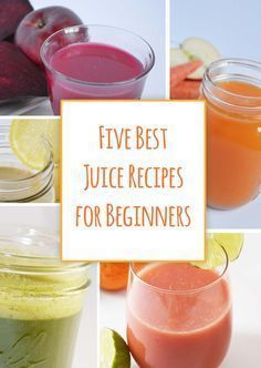 These are the top juices for people just starting to juice. They are mild and sweet and slowly introduce green juices. Best juice recipes for beginners! #BestJuicerRecipes #juicingforbeginners