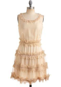 Cappuccino Foam Dress   Mod Retro Vintage Solid Dresses   ModCloth.com - StyleSays