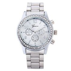 Crystal Stainless Steel Quartz Wrist Watch For Women