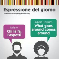 Learning Italian Language ~ What goes around comes around ~ IFHN