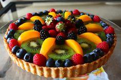 Fruit Tart.  Photo is for fruit-arranging inspiration, not recipe.