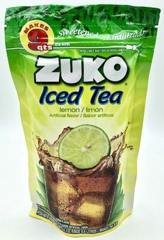 Zuko Iced Tea Lemon Drink Mix (Makes 9 qt - Liters) Peach Drinks, Fruit Drinks, Fruit Juice, Zuko, Mexican Food Recipes, Snack Recipes, Snacks, Fresco, Lemon Drink