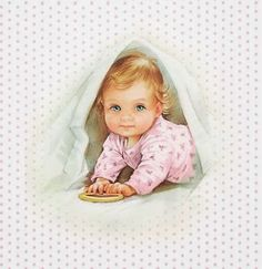 Cute Babies for Free Printable Cards, Toppers or Labels.