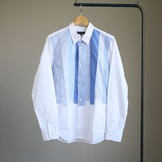 P/W Long Sleeve Shirt #white mix