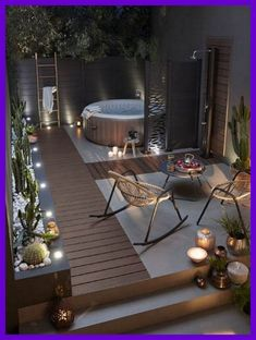 23 Backyard Patio Ideas That Will Amaze & Inspire You 18 Find inspirations to plan and beautify your backyard design. These backyard patio ideas will help you to make your backyard pretty and comfort. Terrace Design, Deck Design, Design Design, Clever Design, Backyard Patio Designs, Backyard Landscaping, Landscaping Ideas, Pergola Ideas, Backyard Pools
