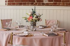 72 x 72 inches Square Blush Tablecloth, Blush Table Overlays for 5 ft Round Tables White Round Tablecloths, Wedding Tablecloths, Wedding Table Linens, Blush Wedding Reception, Blue And Blush Wedding, Wedding Colors, Blush Weddings, Spring Weddings, Round Wedding Tables