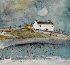 'The moon lit river' By Louise O'Hara of DrawntoStitch https://www.etsy.com/uk/shop/Drawntostitchdotcom