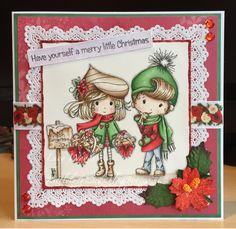 Little Lucy's Handmade Cards: Yummy Gingerbread Winnie Winterland (Polkadoodles)...