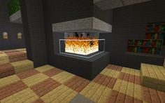 """to Make Furniture for Your """"Minecraft"""" House: A Tutorial How to make furniture and appliances in Minecraft.How to make furniture and appliances in Minecraft. Minecraft Villa, Modern Minecraft Houses, Minecraft Mansion, Minecraft Plans, Minecraft Room, Minecraft House Designs, Minecraft Tutorial, Minecraft Blueprints, Minecraft Architecture"""