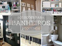 Soluções de organização para banheiros pequenos