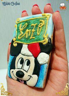 Galleta royal icing Mickey Mouse Navidad