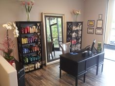 Reception Area, 60/40 Salon is an exclusive provider of Redken products.