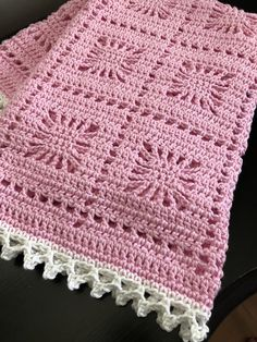 Crochet Baby Blanket / Baby Pink and White Blanket /Open Weave Lace / Shower Gift / Newborn Prop / Girl Blanket / Cotton Yarn - Babykleidung Baby Girl Crochet Blanket, Easy Crochet Blanket, Crochet Blanket Patterns, Baby Patterns, Crochet Baby, Cotton Crochet, Hat Crochet, Blanket Yarn, Kids Crochet