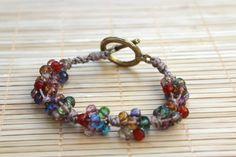 Bracelet en perles tchèques crochetés
